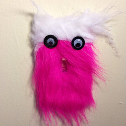 Monster Light Switch Plate by Pinned & Sewtured - This monster makes your room warmer, what with the fuzzy thing. Right?