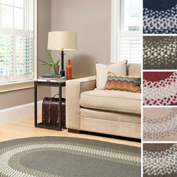 Colonial Mills - Cozy Cabin Rug (6'x9') - Add a cozy,homey accent to your home decor with this traditional braided cabin rug. With five exciting color combinations to choose from,this oval,border-style rug is reminiscent of a cottage,which makes it ideal for country and casual decors.