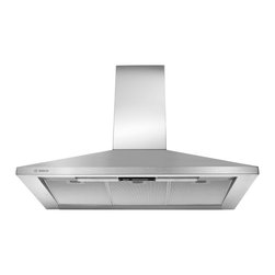 "Bosch 300 Series 36"" Wall Mount Chimney Hood, Stainless Steel 