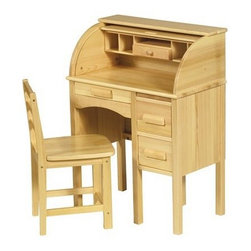 Guidecraft Jr. Roll Top Desk, Oak - Roll top desks add a classic element to a child's room.