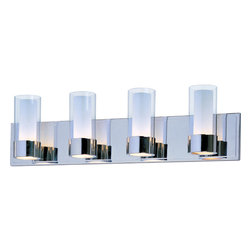 Maxim Lighting - Silo Bath Vanity Wall Light - The Silo light makes artful use of thin-profile rectangular tubing with a mirror-like polished chrome finish for a clean, contemporary look.