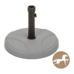 Christopher Knight Home - Christopher Knight Home 55-pound Grey Umbrella Base - The Christopher Knight Home umbrella base ensures that your umbrella will remain securely intact with style and practicality. Built out of solid steel and concrete, the 55-pound base can accommodate an umbrella as large as 12 feet.