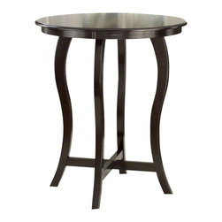 Hillsdale - Hillsdale Wilmington Round Bar Height Table in Cappuccino - Hillsdale - Pub Tables - 4933BTB - Effortless and sleek, the Wilmington Pub Table brings style to any setting. Constructed of solid, cappuccino-hued hardwood, it features a round table top affixed to four elegantly arched legs. Some assembly required.