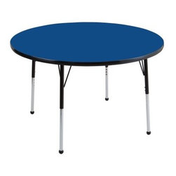 ECR4KIDS 36 in. Black Band Round Adjustable Activity Table - About Early Childhood ResourcesEarly Childhood Resources is a wholesale manufacturer of early childhood and educational products. It is committed to developing and distributing only the highest-quality products, ensuring that these products represent the maximum value in the marketplace. Combining its responsibility to the community and its desire to be environmentally conscious, Early Childhood Resources has eliminated almost all of its cardboard waste by implementing commercial Cardboard Shredding equipment in its facilities. You can be assured of maximum value with Early Childhood Resources.