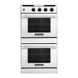 """American Range - Legacy AROSSG230N 30"""" Wide Gas-Natural Gas Double Wall Oven With 4.7 Cu. Ft. Cap - This Legacy 30 gas wall oven features doublechef doors gas Innovection Wall Ovens with infrared broiler in top oven and proofing element in bottom oven blue LED light indicators extra-large vieiwing window in oven door quick pre-heat times and unifor..."""