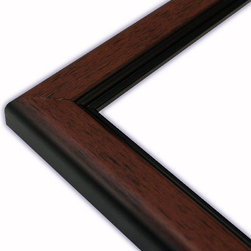 The Frame Guys - Standard Mahogany with Black Lip Picture Frame-Solid Wood, 9x9 - *Standard Mahogany with Black Lip Picture Frame-Solid Wood, 9x9