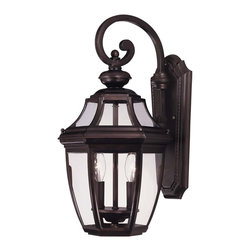Savoy House - Savoy House Endorado Outdoor Wall Mount Light Fixture in English Bronze - Shown in picture: A builder's dream for outdoor lighting! A classic - traditional look as economical as it is versatile. English Bronze Finish with Clear Glass