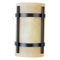 Maxim Lighting - Maxim Lighting 85218WSOI Luna EE Oil Rubbed Bronze Outdoor Wall Sconce - 1 Bulb, Bulb Type: 13 Watt GU24 Fluorescent, Bulb Included