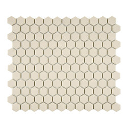 Somertile - Somertile 10 1/4x11 3/4-in Estate Hex Unglazed Porcelain Mosaic Tile (Case of 10 - This modern mosaic tile is a breeze to apply and works well both indoors and outside. Replace your bathroom floors,give your walls a textured appearance,or update your patio with this pretty porcelain tile. This durable tile can handle high traffic.