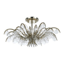 Crystorama Lighting Group - Crystorama Lighting Group 430 Metro 5 Light Crystal Semi-Flush Mount Ceiling Fix - Looking for a traditional yet contemporary fixture? The Metro collection offers both with it's clean, sweeping lines and crystal accents.Features: