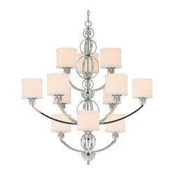Golden Lighting - Cerchi 3 Tier Chandelier - Perfect over your dining table or in the foyer, this tiered chandelier absolutely stuns. A luxurious touch to existing decor, it's sure to wow as it casts a warm glow, creating an elegant atmosphere.