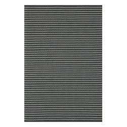 """Loloi Rugs - Loloi Rugs Terra Collection - Charcoal, 5'-0"""" x 7'-6"""" - Bring all the indoor appeal of a flat weave - the durability, the versatility, and the texture- to your outdoor space with our Terra Collection. Hand woven in India, Terra comes in great colors like sage, steel, and graphite made to match with today's indoor and outdoor furnishings. And because Terra is made with 100% polypropylene, it can withstand regular sunshine and rain."""