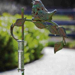 Evergreen - Rain Gauge with Garden Stake - Garden stake with rain gauge