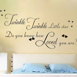 ColorfulHall Co., LTD - Wall Decal Twinkle Twinkle Little Star - Wall Decal Twinkle Twinkle Little Star