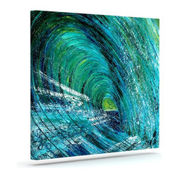 """Kess InHouse - Josh Serafin """"Natural High"""" Blue Green Wrapped Art Canvas (20"""" x 16"""") - Bring your outdoor patio to life with this artistic outdoor canvas wrap featuring gorgeous artwork by KESS InHouse. These canvases are not only easy to hang and remove but also are the perfect addition to your patio collection. These canvases are stretched around a wooden frame and are built to withstand the elements and still look artistically fabulous. Decorating your patio and walls with these prints will add the splash of art and color that is needed to bring your patio collection together! With so many size options and artwork to choose from, there is no way to go wrong with these KESS Canvas Wraps!"""