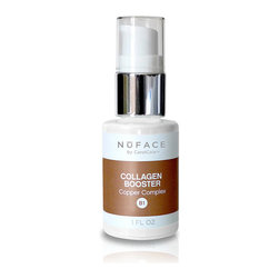 Frontgate - NuFACE Collagen Booster - Restores a natural glow and suppleness to aging or lackluster skin. Helps to improve and promote an even complexion. Works to restore the skin's natural glow and elasticity while reducing the appearance of pore size for an even, polished look. 1 fl. oz.. Cannot be used in combination with the NuFace Lifter Vitamin C Infusion Serum. NuFACE Collagen Booster with Copper Complex stimulates collagen formulation for maximum firming and tightening of skin. It's a must-have product for every skin care regimen.  .  . Works to restore the skin's natural glow and elasticity while reducing the appearance of pore size for an even, polished look .  .  . Made in the USA.