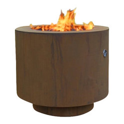 Home Infatuation - Round Fire Pit for Lava Roc or Glass - Small patios rejoice! If you miss the fun of gathering around a fire in the evening because you don't have the room, this small round fire pit could solve your problems. And once it's outside it stays outside. The elements only enhance the finish.
