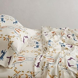 Anthropologie - Creature Hideaway Sheet Set - Set includes one flat sheet, one fitted sheet, and two standard pillowcases220 thread countCotton sateenMachine washImported