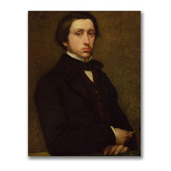Trademark Fine Art - Edgar Degas 'Self Portrait' Canvas Art - Artist: Edgar Degas Title: Self Portrait Product type: Giclee, gallery wrapped
