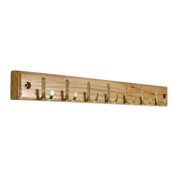 Proman - Proman Home Essential Belt Hanger Bar, Walnut Finish - Home Essential belt hanger bar, in Walnut finish. Has 7 belt hooks. Keep belts organized and neat. Made of high-quality wood.