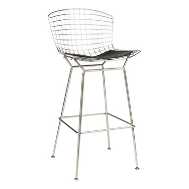 Bertoia Bar Stool - Polished Stainless steel, available in bar and counter height