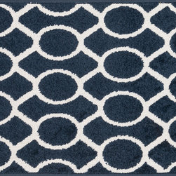 """Loloi Rugs - Loloi Rugs Terrace Collection - Navy / Ivory, 3'-0"""" x 3'-0"""" Round - Bold design and bright colors come together beautifully in the outdoor-friendly Terrace Collection. Each Terrace rug is power loomed in Egypt of 100% polypropylene that's specially treated to withstand rain and UV damage without staining or fading color._"""