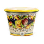 Artistica - Hand Made in Italy - FRUTTA: Round cachepot (Large) - FRUTTA Collection: Define a genuine Tuscan look with this exclusive Artistica pattern.