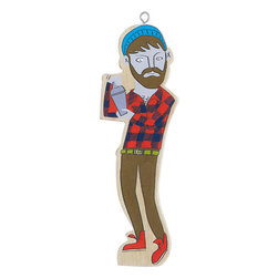 Bartender Ornament - If you get a kick out of Portlandia, you'll get a kick out of this hipster mixologist ornament, which will shake things up on the tree.