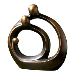 "Uttermost - Family Circles Statue in Bronze Patina - Features: -Statue. -Bronze Patina finish. -Resin construction. -Designer: Joseph Famulari. -Overall dimensions: 13.5"" H x 12.75"" W x 5.5"" D."