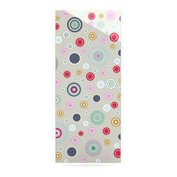 """Kess InHouse - Suzanne Carter """"Circle Circle I"""" Gray Multicolor Metal Luxe Panel (9"""" x 21"""") - Our luxe KESS InHouse art panels are the perfect addition to your super fab living room, dining room, bedroom or bathroom. Heck, we have customers that have them in their sunrooms. These items are the art equivalent to flat screens. They offer a bright splash of color in a sleek and elegant way. They are available in square and rectangle sizes. Comes with a shadow mount for an even sleeker finish. By infusing the dyes of the artwork directly onto specially coated metal panels, the artwork is extremely durable and will showcase the exceptional detail. Use them together to make large art installations or showcase them individually. Our KESS InHouse Art Panels will jump off your walls. We can't wait to see what our interior design savvy clients will come up with next."""