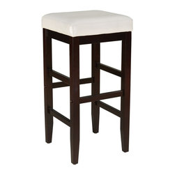Standard Furniture - Standard Furniture Smart Stools Bar Height Square White Upholstered - Standard Furniture - Bar Stools - 19622 - About the Smart Stools Collection: