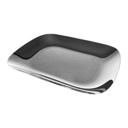 Alessi - Dressed Rectangular Tray by Alessi - The Alessi Dressed Rectangular Tray goes against convention. Traditionally, the rules would require that decoration be applied in the most important and most visible areas of the object. Designer Marcel Wanders, on the other hand, applies it to secluded areas, a little out of sight, sometimes even in areas that aren't normally visible at all, so much so that it's a sort of introverted decoration. Alessi, known as the Italian design factory, has manufactured household products since 1921. The stylish and fun items offered are the result of contemporary partnerships with some of the world's best designers of unique and modern home accessories.