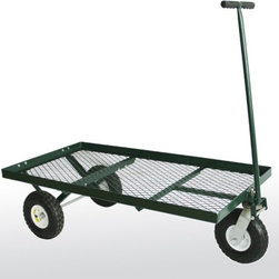 Sandusky Lee - Sandusky Lee Heavy Duty Steel 3-Wheel Flat Cart Multicolor - FW4824-3 - Shop for Carts and Wheelbarrows from Hayneedle.com! You'll use your Sandusky Heavy Duty Steel 3-Wheel Flat Cart for nearly every project. It features a taller lip so whatever you're hauling stays put and the powder-coated steel mesh bed drains quickly and is rust-resistant. The tree heavy-duty tires provide strong traction and easy mobility while the T-handle with foam rubber provides comfort.About Sandusky Cabinets and Lee MetalSandusky Cabinets and Lee Metal have been major suppliers of steel storage solutions for nearly 70 years. Their diverse product line is tailored to the specific needs of office commercial industrial and educational markets while ensuring low logistics costs and fast delivery times which means the products are handled a minimal number of times in transit.Please note this product does not ship to Pennsylvania.