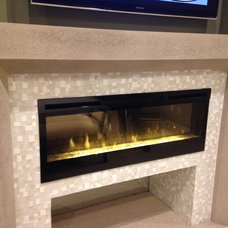 Under tv fireplace