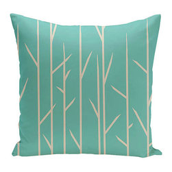 e by design - Branches Jade 20-Inch Cotton Decorative Pillow - - Decorate and personalize your home with coastal cotton pillows that embody color and style from e by design  - Fill Material: Synthetic down  - Closure: Concealed Zipper  - Care Instructions: Spot clean recommended  - Made in USA e by design - CPO-NR7-Jade-20