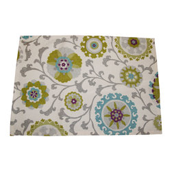 """Grey House Linens - The Elise Collection Patterned Placemat - Placemats measure 14"""" x 20""""."""