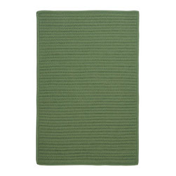 Colonial Mills - Colonial Mills Simply Home Solid H123 Moss Green Rug H123R024X036S 2x3 - Practical. Colorful. Versatile. Maintenance-free. Simply pick from 37 colors to find the perfect solid-color indoor/outdoor rug for your space.