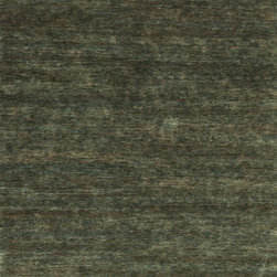 """Loloi Rugs - Loloi Rugs Intrigue Collection - Slate, 5'-6"""" x 8'-6"""" - The Intrigue Collection features eco-friendly, jute from India that is hand-knotted into transitional, solid-colored designs. Simple yet elegant, Intrigue is a highly versatile series that can serve as the foundation to a serene room or a counterbalance to a space with other busy design motifs. What's more, Intrigue's generous pile is surprisingly soft to walk over."""
