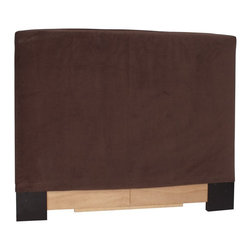 Howard Elliott - Bella Chocolate Twin Slipcovers - Refresh the look of your slipcovered headboard simply by updating the cover! Change with the seasons, or on a whim. This piece features a luxurious chocolate brown velvet cover