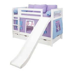 Smile Girl Twin over Twin Slat Tent Bunk Bed