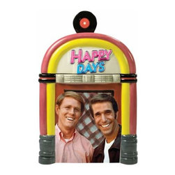 WL - 11 Inch Happy Days TV Show Jukebox Ceramic Painted Cookie Jar - This gorgeous 11 Inch Happy Days TV Show Jukebox Ceramic Painted Cookie Jar has the finest details and highest quality you will find anywhere! 11 Inch Happy Days TV Show Jukebox Ceramic Painted Cookie Jar is truly remarkable.