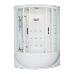 Ariel Bath - Ariel  ZAA212  Steam Shower  with Whirlpool Bathtub 47x47x87 - These fully loaded steam showers include a whirlpool bathtub, massage jets, and built in FM Radio for Easy Listening s to help increase your therapeutic experience.
