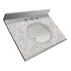 "Foremost - Foremost 31 W x 22 D Granite Vanity Top with Bowl, Rushmore Gray (HG31228RG) - Foremost HG31228RG 31"" W x 22"" D Granite Vanity Top with Bowl, Rushmore Gray"