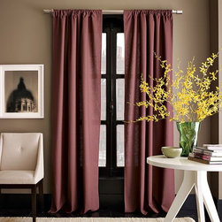 Linen Cotton Pole Pocket Window Panel - A modern touch with subtly textured linen. Pole-pocket top treatment. Machine wash. Imported.