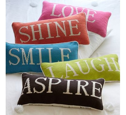 eclectic bed pillows by PBteen