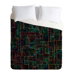 DENY Designs - DENY Designs Jacqueline Maldonado Matrix Duvet Cover - Lightweight - Turn your basic, boring down comforter into the super stylish focal point of your bedroom. Our Lightweight Duvet is made from an ultra soft, lightweight woven polyester, ivory-colored top with a 100% polyester, ivory-colored bottom. They include a hidden zipper with interior corner ties to secure your comforter. It is comfy, fade-resistant, machine washable and custom printed for each and every customer. If you're looking for a heavier duvet option, be sure to check out our Luxe Duvets!