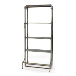 Go Home - Go Home Single Warehouse Shelving - Made of steel and slate, the single warehouse shelving makes for ideal storage system. Consisting of five shelves made of steel and slate, this piece of furniture is long lasting and durable. Being safe for storage of books, utensils, trophies and other articles the shelves can help one to keep all articles arranged at one place.