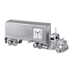 Kito - 5 3/4 Inch Accurate Quartz Die Cast Metal Trailer Design Clock, Silver - This gorgeous 5 3/4 Inch Accurate Quartz Die Cast Metal Trailer Design Clock, Silver has the finest details and highest quality you will find anywhere! 5 3/4 Inch Accurate Quartz Die Cast Metal Trailer Design Clock, Silver is truly remarkable.