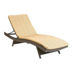 Christopher Knight Home - Christopher Knight Home Tan Lounge Chair Cushions - This creamy tan comfortable outdoor chaise lounge cushion makes relaxing on the patio a luxurious event. The solid patterned cushion is made of weather-resistant polyester and fits on most standard lounge chairs.