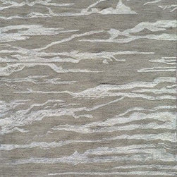 Momeni - Momeni Zen Zen2 Grey Rug - Inspired by all things tranquil Zen is an elegant collection of hand-tufted rugs, with rich bamboo silk highlights enhancing their quiet appeal and making a graceful addition to any decor. 100% wool
